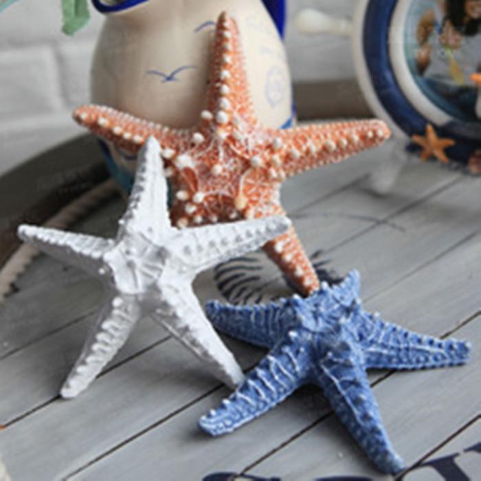 2 unids/lote resina Starfish estilo mediterráneo decoración Starfish Wall Decor