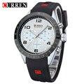 Curren Male Watches Men Luxury Brand Sport Rubber Strap Watch Men Casual Quart Anlog Wristwatches Relogio Masculino,W8131