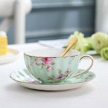 Европейский керамический набор кофейных чашек, ручная работа, Пномпень, чашка, семейный послеобеденный чайный набор, Цветочная чашка, подарок на день рождения