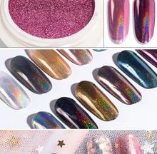 0.2g  DIY Decorations Holographic Chameleon Nail Sequins Colorful Laser Glitter Powder Dust Art Pigment