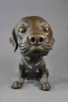 Copper crafts copper dog home decoration animal sculpture soft decoration big head dog Figure decoration bronze factory outlets