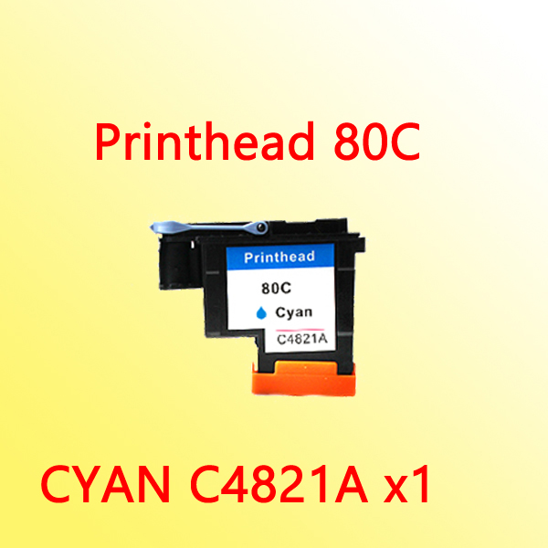1x CYAN printhead For hp80 C4821A for hp 80 Designjet 1000 1050c 1055cm printer c4821a printhead for hp 80 for hp80 print head for hp designjet 1000 1050c 1055cm printer