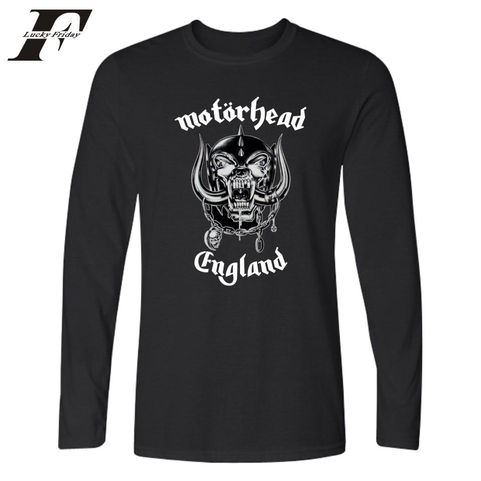 Luckyfridayf motorhead printed t shirt men spring long for Single print t shirt