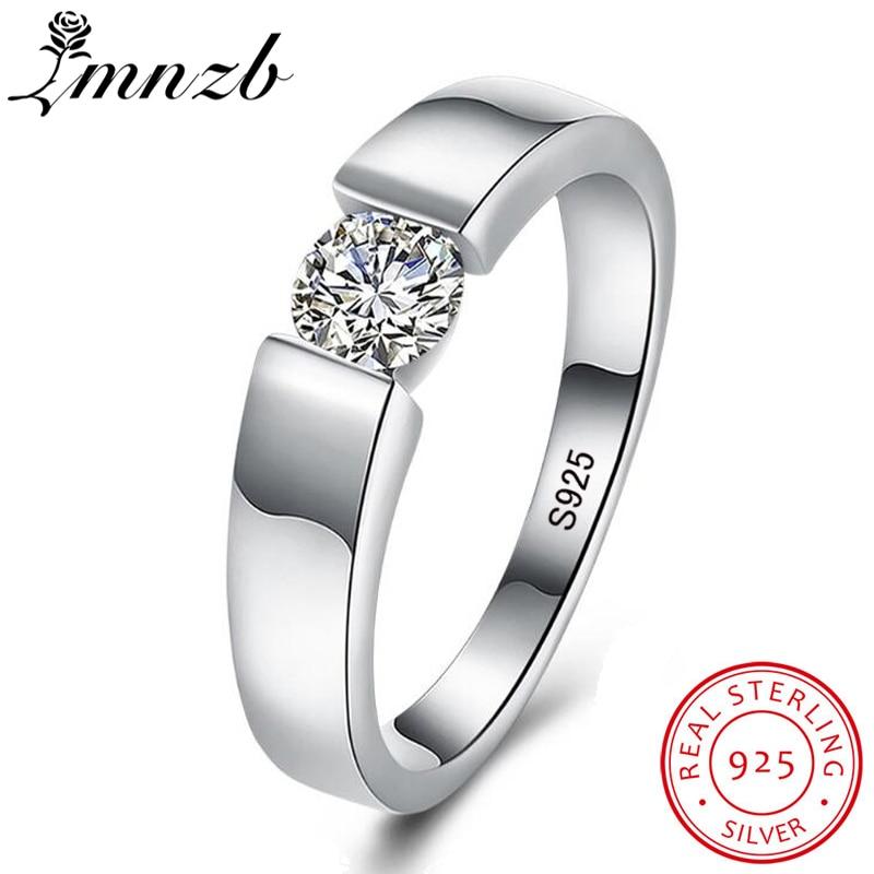 LMNZB Real Natural Sólido 925 Prata Anéis 1 Diamant Quilates Sona Anéis de Casamento para As Mulheres e Homens de Tamanho Completo 6 7 8 9 10 11 12 LR-D10