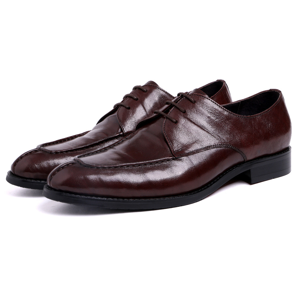 ФОТО 2017 Latest Brogue Designer Formal Men Shoes Genuine Leather Lace up For Men Wedding Dress Shoes EU38-44 Black And Red Color