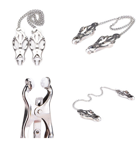 Exotic Accessories Women Metal Chain Nipple Clamp Slave Nipple Clip  Fetish Toy Send To Costumer For Wedding Gift
