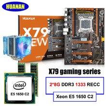 HUANAN DELUXE LGA2011 X79 placa base CPU RAM combos Xeon E5 1650 C2 RAM 16G (2*8G) DDR3 1333 MHz RECC regalo refrigerador