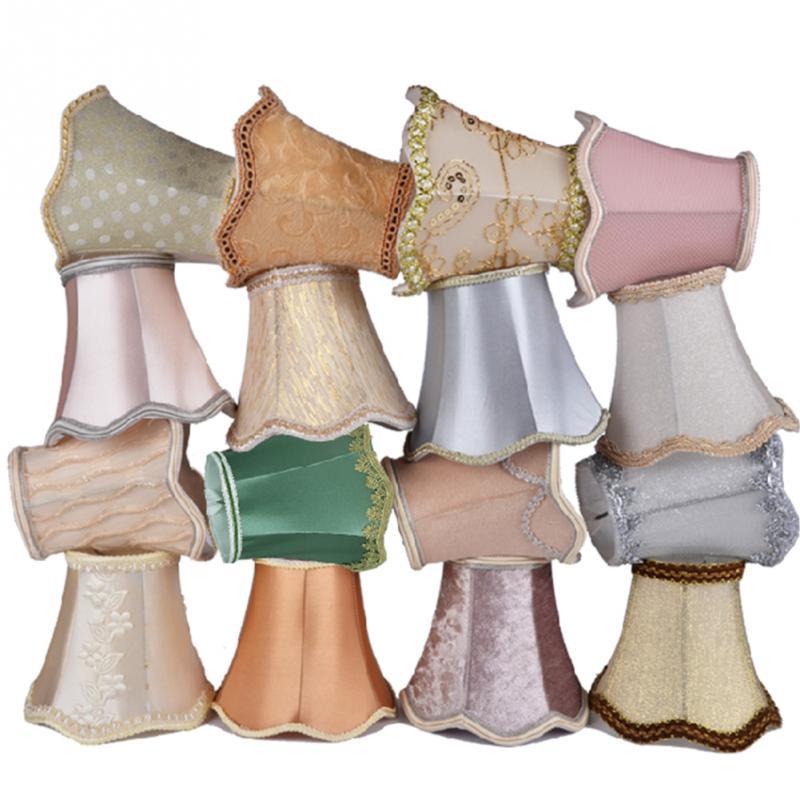 Art déco ondulation abat-jour lampe cristal applique lustre tissu abat-jour Style nordique moderne lampe couverture pour la décoration de la maison