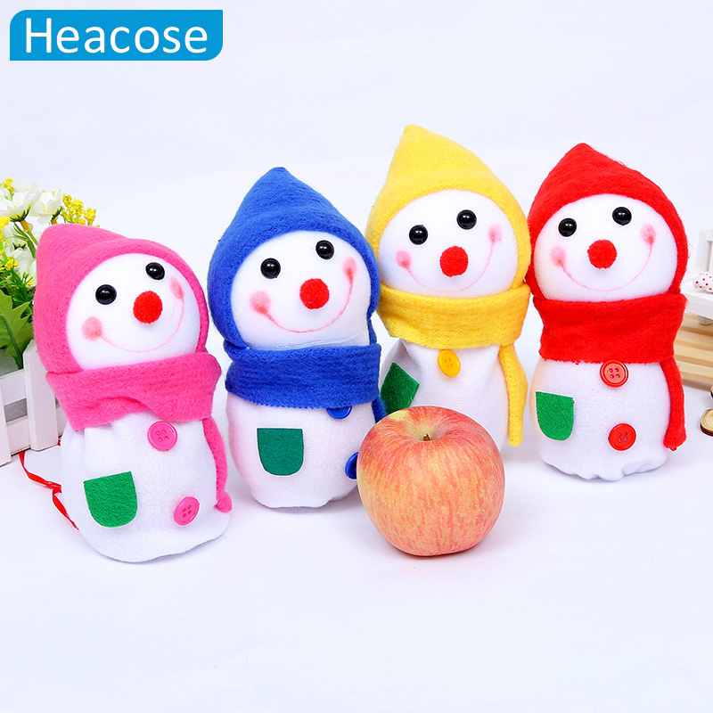 cute snowman apple bag christmas candy gift bag christmas ...