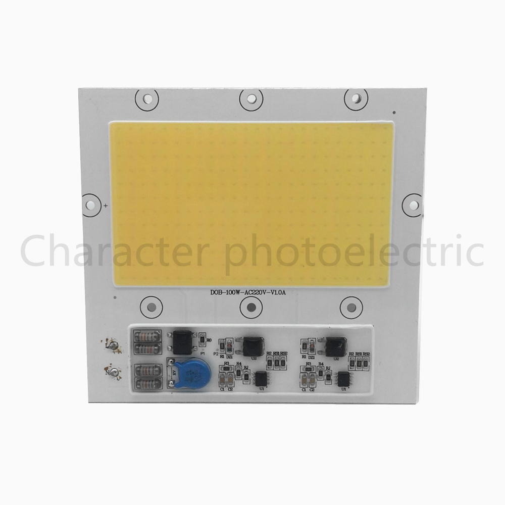 Купить с кэшбэком 100W 220V COB LED 3000-3500K Warm white input white lamp light source for integrated LED 100W floodlight working lamp lamp