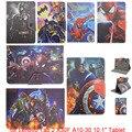 Asseclas Batman Dos Desenhos Animados PU LEATHER Case Capa Suporte Universal 10.1 de polegada 9.7 polegada para lenovo tab 2 x30f a10-30 tablet para crianças