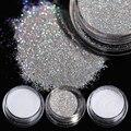 8 Unids/set Holográfico Holograma Láser de Uñas Glitter Powder Brillante Azúcar Glitter polvo del Polvo de Uñas Decoración DIY