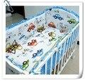 Promoción! 6 unids sistema del lecho del bebé para cuna y cuna cuna Kit set, incluyen ( bumpers + hojas + almohada cubre )