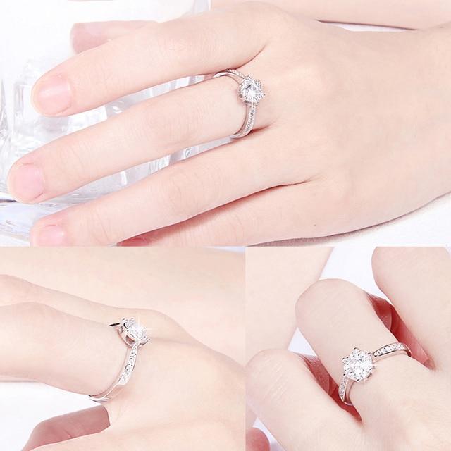 LXOEN incrustation de luxe Zircon bague de fiançailles pour les femmes Zircon cubique cristal anneaux fête bijoux accessoires cadeau anillos