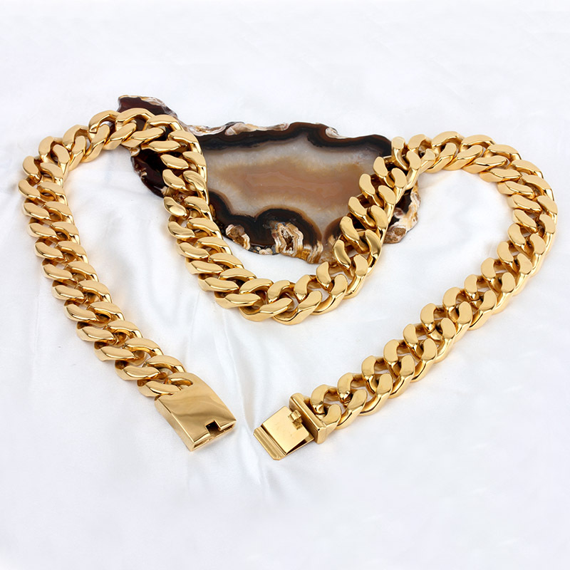 New necklace Man domineering  gold  ultra thick necklace Titanium steel necklacesNew necklace Man domineering  gold  ultra thick necklace Titanium steel necklaces