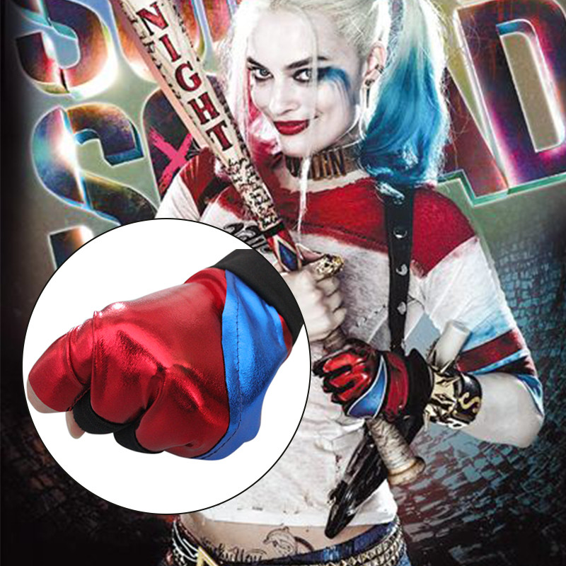 Harley Quinn Christmas.Us 1 86 50 Off 1pcs Halloween Batman Harley Quinn Gloves Biker Suicide Squad Costume Glove Christmas Halloween Party Cosplay Costume On Sale In