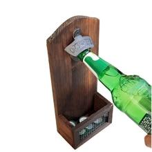 Creativa Vintage de hierro antiguo montado en la pared Bar de cerveza abridor de Botella S botella de herramientas de cocina abridor de cerveza
