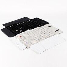 High Quality Velvet Jewelry Foldable Travel Roll Bag Portable Storage Case For Pendant Earring Display Stand Holder Rack