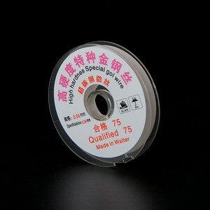 Image 5 - 0.04/0.05 MILLIMETRI LCD Dello Schermo di Separazione di Alta Durezza Speciale Oro Filo di Taglio Linea Per Iphone Samsung di Vetro Fili per saldatura