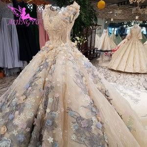 Image 2 - Aijingyuチューブウェディングドレスインドのブライダルなfrocks岬ロング婚約ドレス丈古典的なウェディングドレス