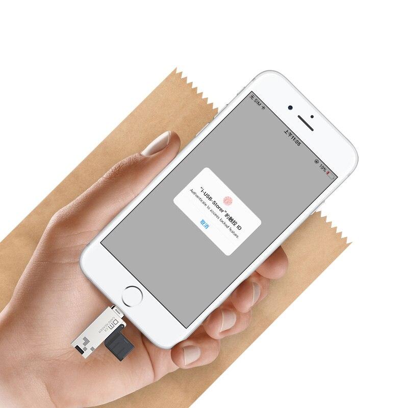 Image 5 - DM CR008 Lightning Micro SD/TF OTG Card Reader USB 3.0 Memory Mini Cardreader for iPhone 6/7/8 Plus iPod iPad OTG Card Reader-in Card Readers from Computer & Office