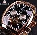 Forsining дата Месяц Дисплей Чехол из розового золота для мужчин s часы лучший бренд класса люкс автоматические часы Montre Homme Часы для мужчин повс...