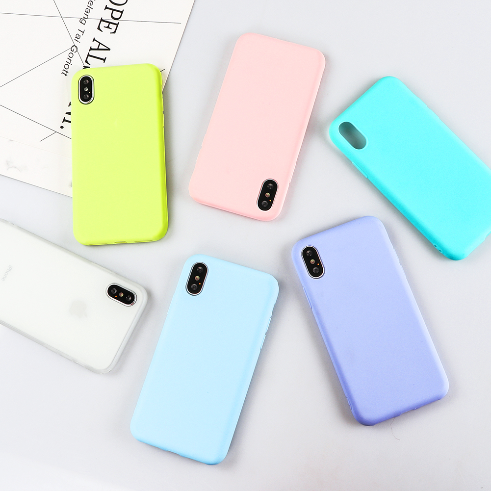 Candy Macarons Color TPU Silicone Frosted Matte Cases for iPhone 6 6S...