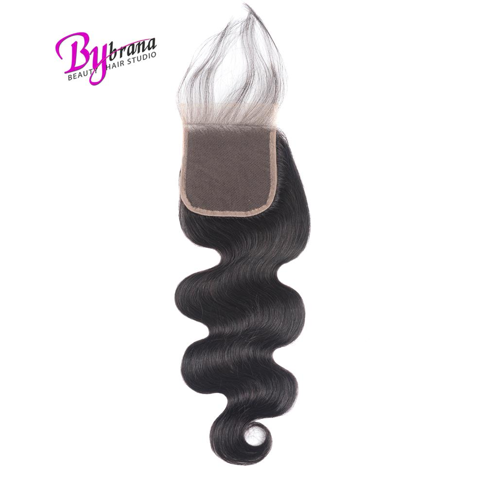 Brazilian Closure Body Wave Remy Human Hair Closure Natural Black Color Swiss Lace Closure With Baby Hair Closures Wholesale