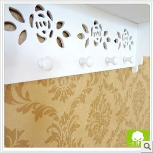Farmhouse style wood wall shelf decor household creative key box - Home Decor - Photo 3