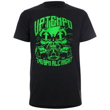 UPTEMPO T-Shirt BPM BlackGreen  Hardcore Gabber Party