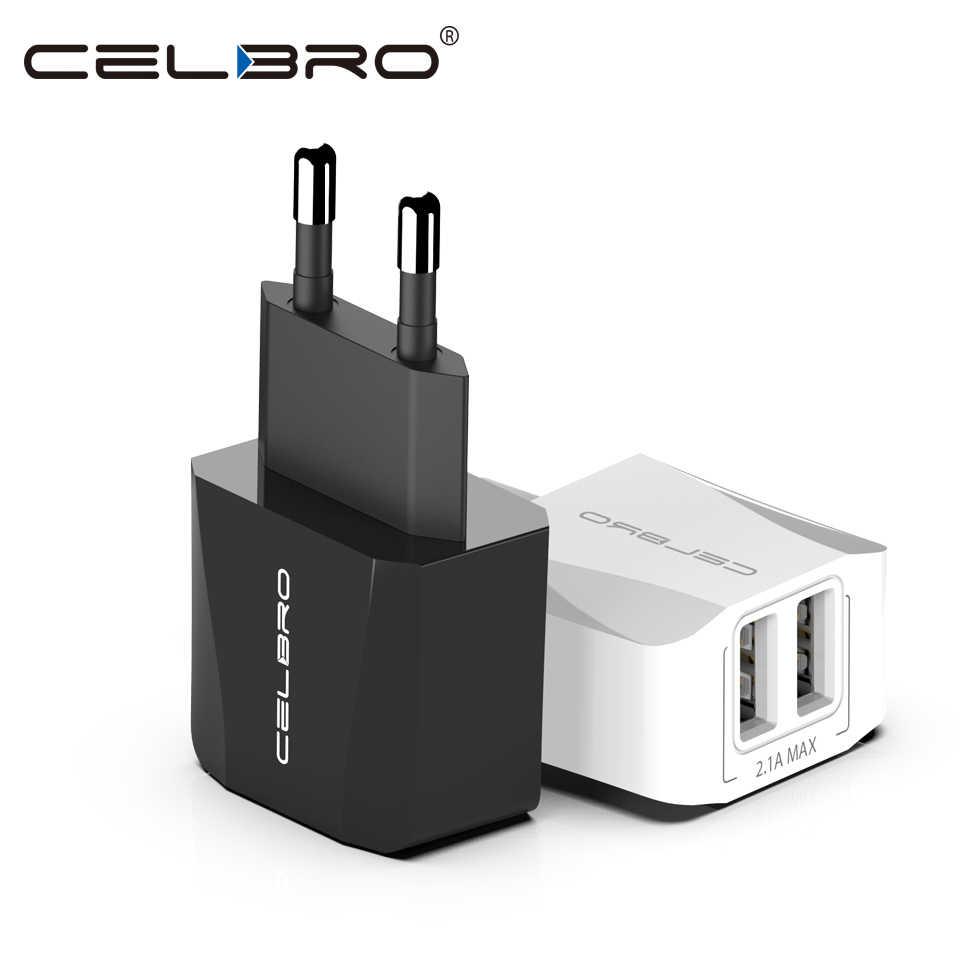 Mini Dual USB Charger Plug 2.1A Small Travel Wall Charger