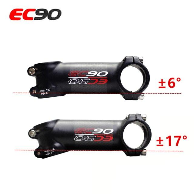 EC90 haste Haste de alumínio + fibra de carbono de riser de fibra de carbono Bicicleta Da Haste de carbono ultra-leve alça de 28.6-31.8 MM 6 graus ou 17 graus
