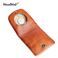 WardWolf Hasp Coin Purse Handmade Genuine Leather Mini Cute Coin Holder Original Multifunction Small Wallet Coin Bag Pocket