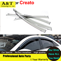car styling Awnings Shelters Window Visor For K3 Creato 2013 2014 Stickers Car-Styling Accessories Guard Rain Shield
