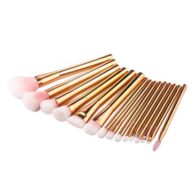15 UNIDS Cosmético Eyeshadow Cepilladora de Cepillo Del Maquillaje de la venta caliente de alta quaity desnuda de maquillaje cepillos y herramientas