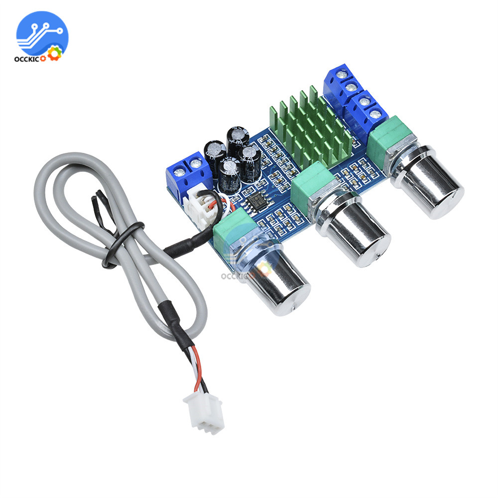 TPA3116D2 Audio Amplifier Board DC12-24V 2x80W High Power Digital Stereo Volume Control Sound Board Car Speaker HIFI Module