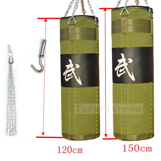 150cm 120cmtraining Mma Boxing Bag Hook Hanging Kick Muay Thai Sanda Punching Sandbag Punch