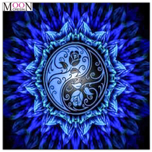 MOONCRESIN Diy Diamond Painting Cross Stitch Mandala Flowers Series Diamond Mosaic Full Round Diamond Embroidery Decoration Kits mooncresin 3d diy diamond embroidery beautiful blue eyes diamond mosaic full round diamond painting cross stitch decoration kits
