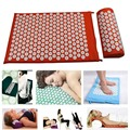Acupressure Mat With Pillow Massage Mat Shakti Yoga Message with Pillow Pain Reliefe Cotton ABS Spike drop shippin Appro.67*42cm
