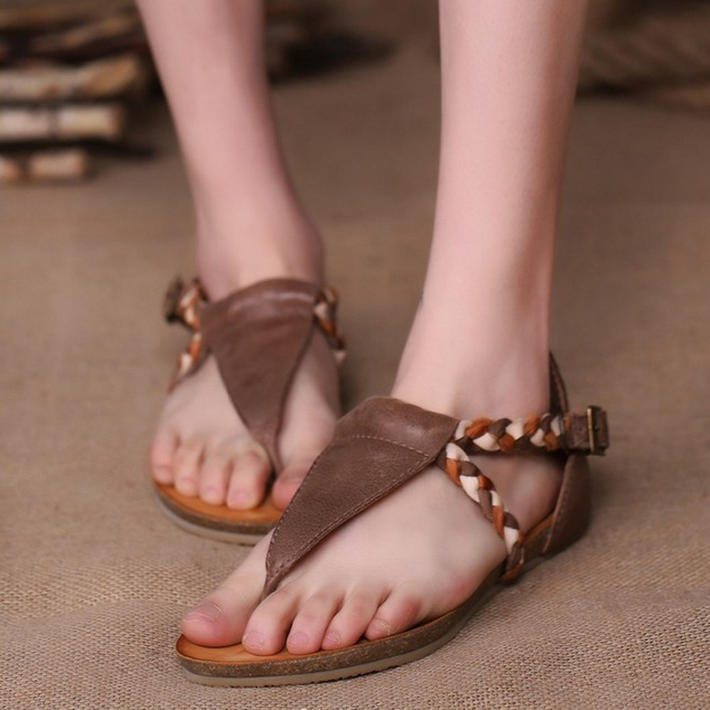 2018 New Arrival Cow Retro Genuine Real Leather Zapatos Mujer Woman Summer Shoes Women's Sandals Platform Open Toe Hot Sale 2017 summer shoes woman platform sandals women soft leather casual open toe gladiator wedges women shoes zapatos mujer