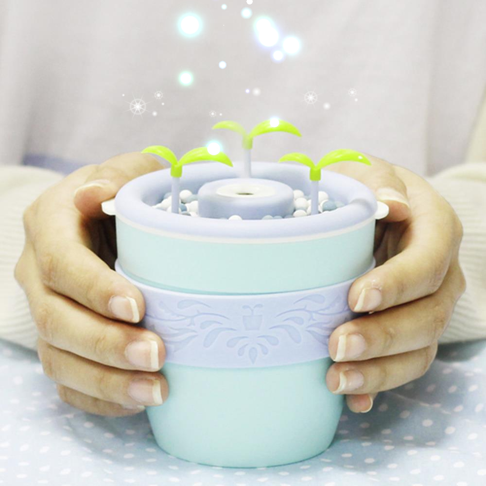 Anion Humidifier USB Potted Plant Home Mini Humidifier Essential Oil Diffuser Air Humidifier Ultrasonic Creative Gifts LJH-008