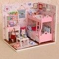 Wooden Doll House Toys Handmade With Furnitures Assembling DIY Miniature Model Kit Children Adult Beauty Gift For Girl Women