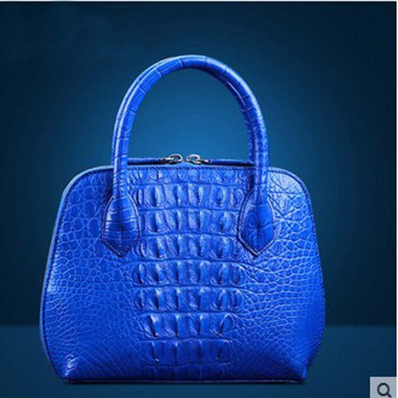 heimanba Crocodile leather ladies shell shell leather large capacity banquet bag crocodile leather handbag female