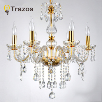 Modern crystal chandelier K9 110~240V lustres de cristal for living room or bedroom lighting lustre para sala