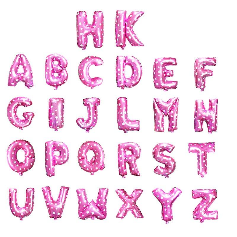 Хорошее качество 1 шт 16 »дюймовый Розовый Алфавит A-Z фольги Письма шар для день рождения поставки Свадебные украшения Baloes
