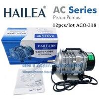 12pcs/lot Hailea ACO 318 35W/45W 70L/Min Piston Air Compressor Pump Koi Fish Pond Hydroponic