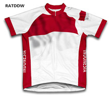 Indonesia Flag Cycling Jersey Bicycle Bike Short Sleeve Sportswear Bike Bicycle Wear cycling Wear Racing Bicycle Clothes