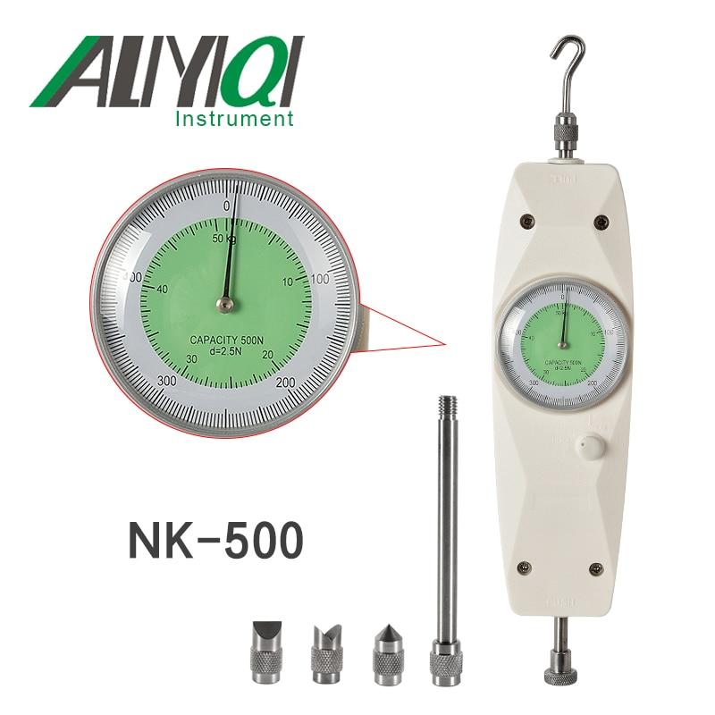 NK-500 500N Analog Push Pull force gauge Dynamometer Measuring Instruments High Quality hf 500 digital push pull gauge price with high quality digital dynamometer force gauge hf 500