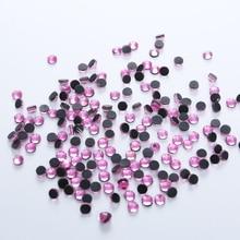 цена на 1440pcs DMC Hotfix Rhinestones LT.Rose Glass Strass Flatback Hot Fix Rhinestone Iron On For Wedding Dress