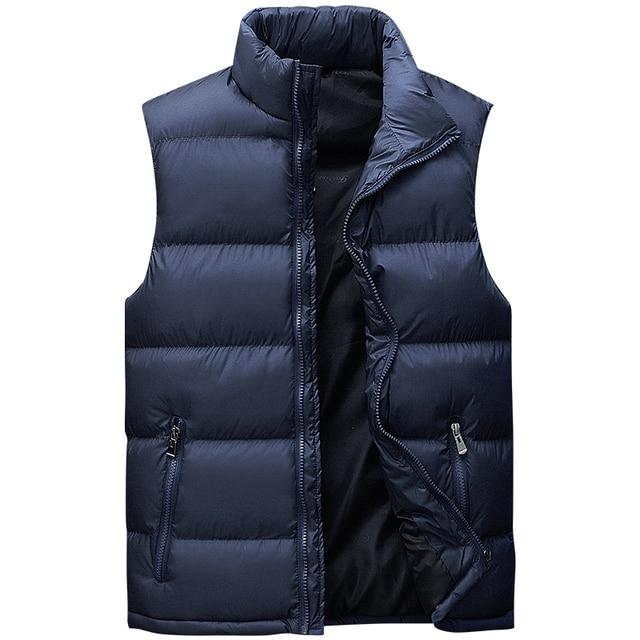 Vest Men New Stylish Plus Size L-8XL Autumn Winter Warm Sleeveless Jacket Waistcoat Men's Vest Fashion Casual Coats Mens
